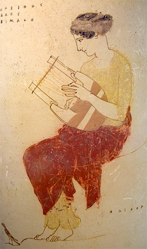 The Muses in the Greek Mythology. muse-with-lyre