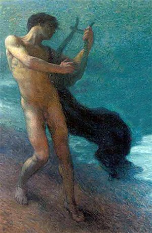 Orpheus and Eurydice, the myth about the love of Orpheus and Eurydice