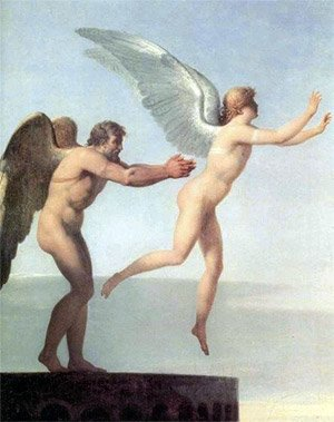 daedalus and icarus with wax wings