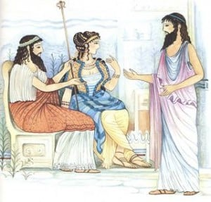 King Minos, Queen Pasiphae and Daedalus