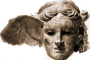 hypnos with wings attached to his head