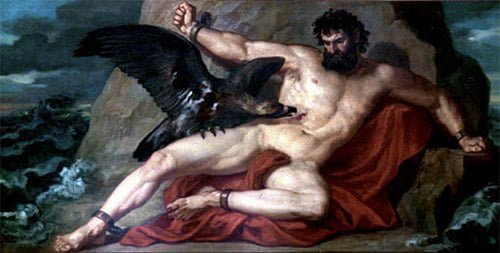 the eagle eating the liver of prometheus