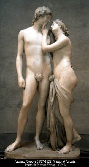 statue of aphrodite and adonis