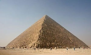 the pyramid of cheops in Egypt