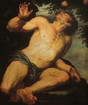 the punishment of Tantalus by the gods