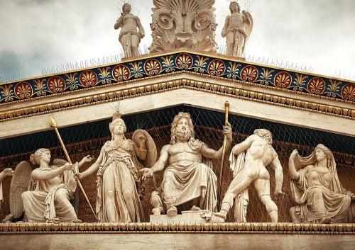 greek gods temple front